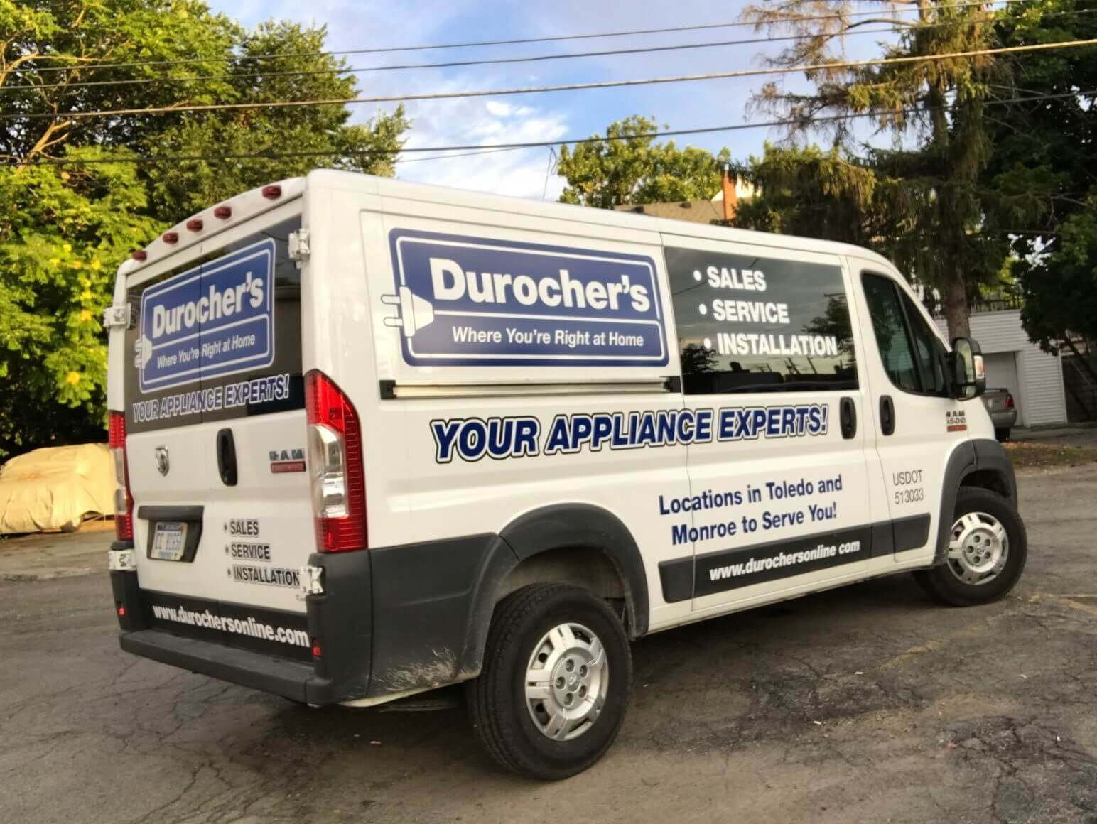 Durocher's Delivers your furniture, appliance, electronics, and mattress to you!